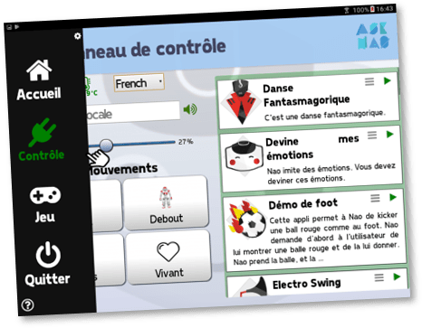 Application tablette asknao carpentras